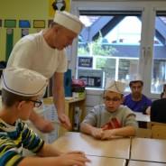 Un boulanger à l'école